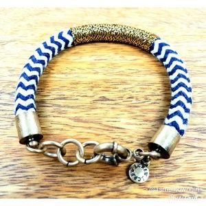 J. Crew check pattern accent wire wrap bracelet